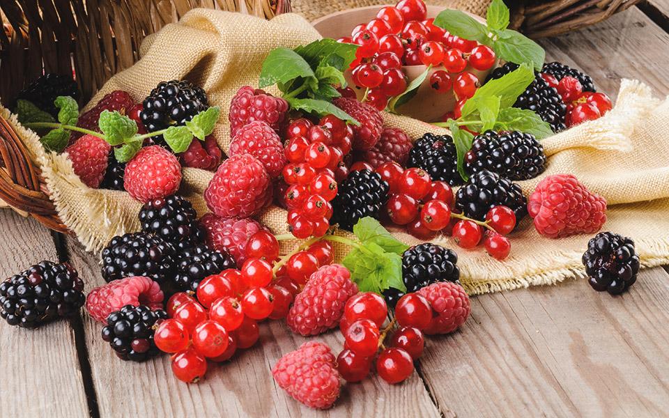 Frutta e bacche da tavola